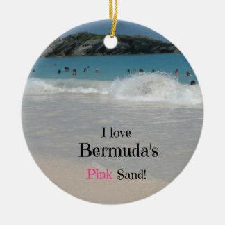 私はバミューダ島のピンクの砂を愛します! セラミックオーナメント