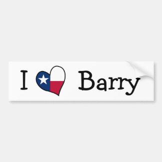 私はバリーを愛します バンパーステッカー