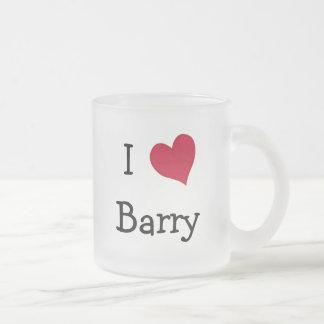 私はバリーを愛します フロストグラスマグカップ