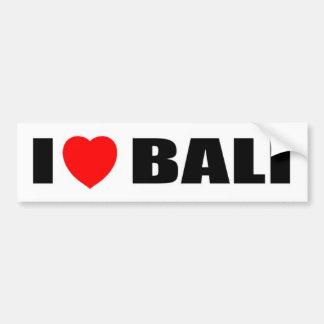 私はバリ島、インドネシアを愛します バンパーステッカー