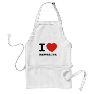 私はバルセロナを愛します スタンダードエプロン