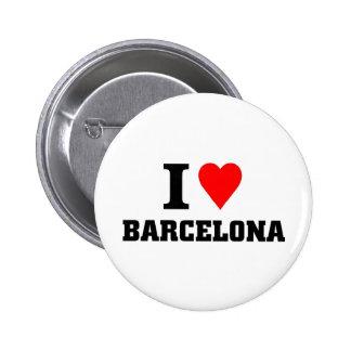私はバルセロナを愛します 5.7CM 丸型バッジ