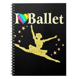 私はバレエのデザインを愛します ノートブック