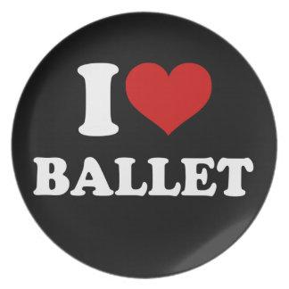 私はバレエを愛します プレート