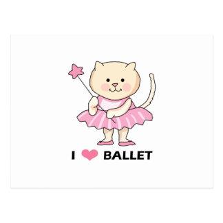 私はバレエを愛します ポストカード