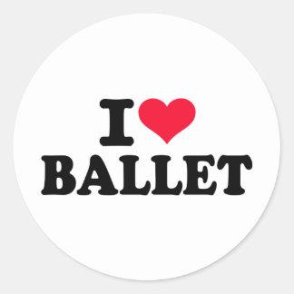 私はバレエを愛します ラウンドシール
