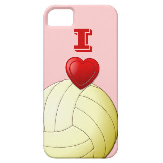 私はバレーボールのiPhone 5の場合を愛します iPhone SE/5/5s ケース