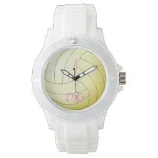私はバレーボールを掘ります 腕時計