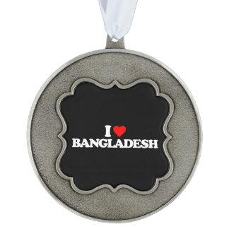 私はバングラデシュを愛します オーナメント