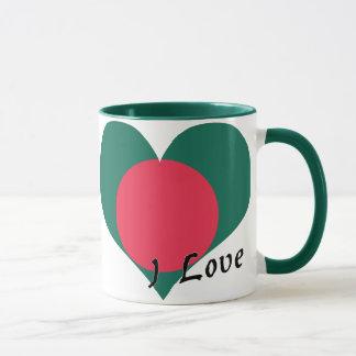 私はバングラデシュを愛します マグカップ