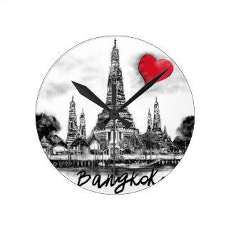私はバンコクを愛します ラウンド壁時計