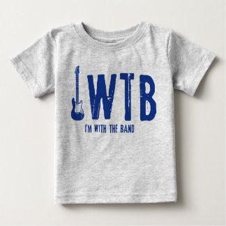私はバンド赤ん坊Tとあります ベビーTシャツ