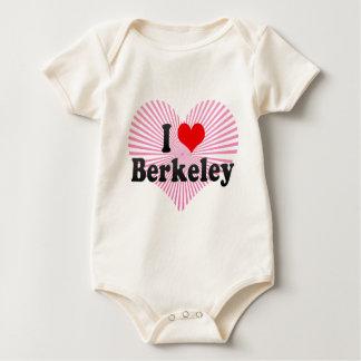 私はバークレー、米国を愛します ベビーボディスーツ