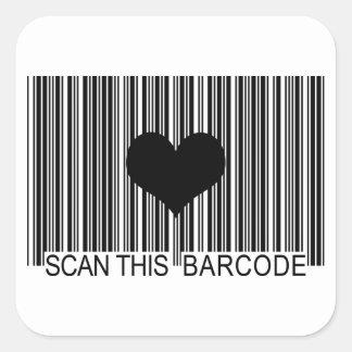 私はバーコードを恋しく思います スクエアシール