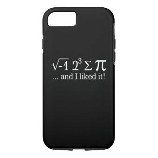 私はパイを食べ、黒のそれを好みました iPhone 8/7ケース
