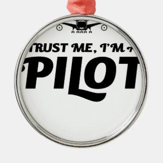 私はパイロットです メタルオーナメント