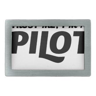 私はパイロットです 長方形ベルトバックル