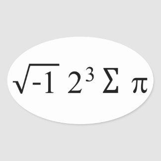 私はパイ数学のステッカーを食べました 楕円形シール
