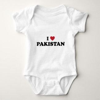 私はパキスタンを愛します ベビーボディスーツ