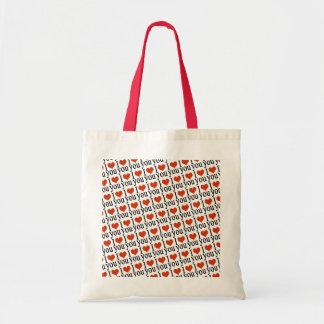 私はパターンデザインlove トートバッグ