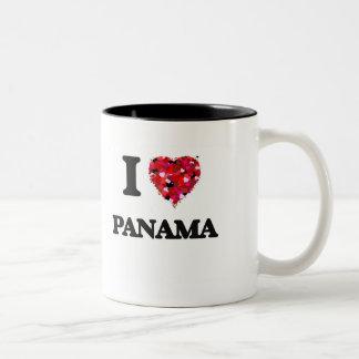 私はパナマを愛します ツートーンマグカップ