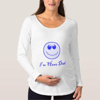 私はパパここにいます マタニティTシャツ