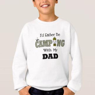 私はパパとむしろキャンプしていました スウェットシャツ