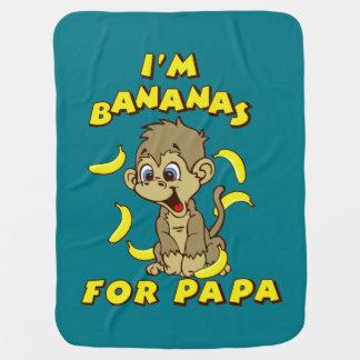 私はパパのためのバナナです ベビー ブランケット