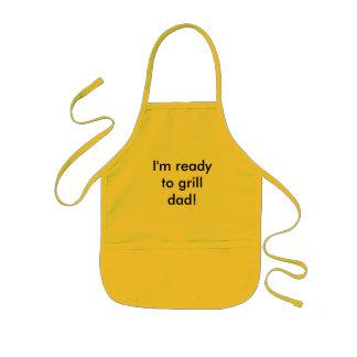 私はパパを焼いて準備ができています! 子供用エプロン