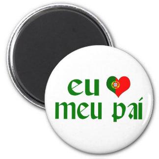 私はパパ-ポルトガル語--を愛します マグネット