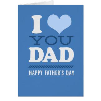 私はパパ-幸せな父の日カード愛します カード