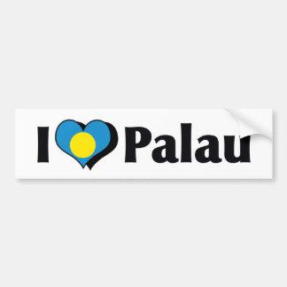 私はパラオ諸島の旗を愛します バンパーステッカー
