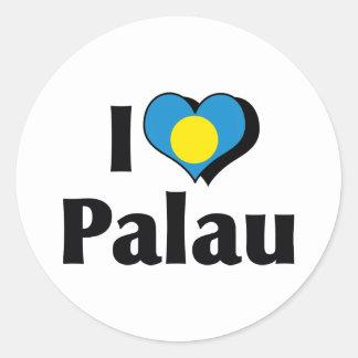 私はパラオ諸島の旗を愛します ラウンドシール