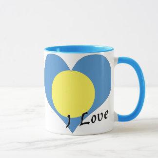 私はパラオ諸島を愛します マグカップ