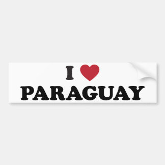 私はパラグアイを愛します バンパーステッカー