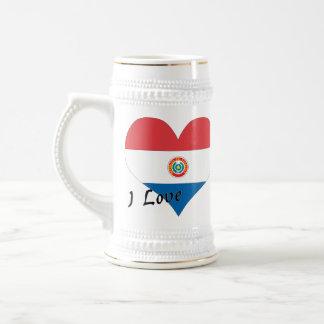 私はパラグアイを愛します ビールジョッキ