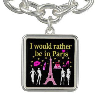 私はパリにむしろいます チャームブレスレット