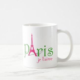 私はパリを愛します コーヒーマグカップ