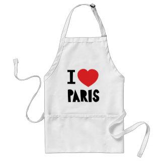 私はパリを愛します スタンダードエプロン