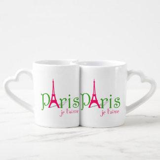 私はパリを愛します ペアカップ
