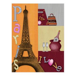 私はパリを愛します ポストカード
