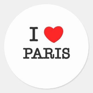 私はパリを愛します ラウンドシール