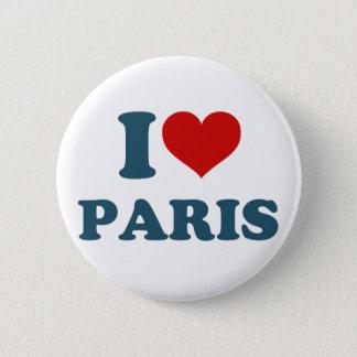 私はパリを愛します 5.7CM 丸型バッジ