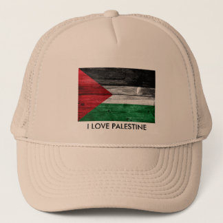 私はパレスチナの旗のトラック運転手の帽子の人の帽子を愛します キャップ