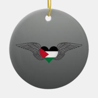 私はパレスチナ-翼--を愛します セラミックオーナメント