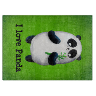 私はパンダを愛します カッティングボード