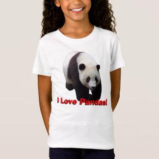 私はパンダを愛します! ジャイアントパンダはベビードールのワイシャツをからかいます Tシャツ