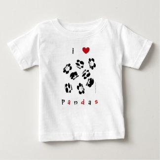 私はパンダを愛します ベビーTシャツ