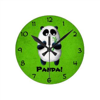 私はパンダを愛します ラウンド壁時計