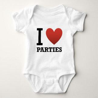 私はパーティーを愛します ベビーボディスーツ